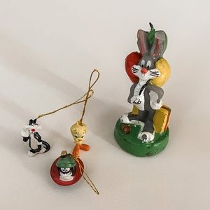Vintage Bugs Bunny Looney Tunes Cake Topper Candle